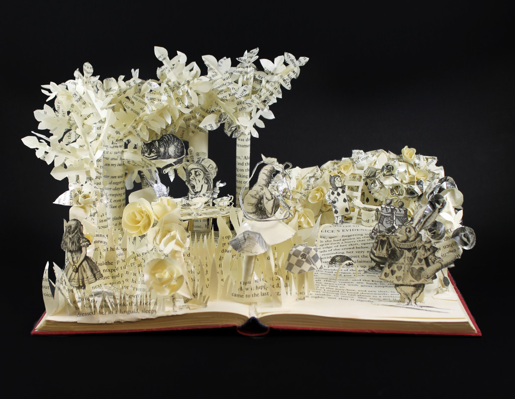 Alice in Wonderland Book Sculpture by Jamie B. Hannigan