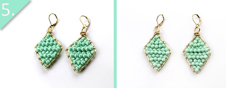 DIY Mint Beaded Earrings Step 5 - Jamie B Hannigan