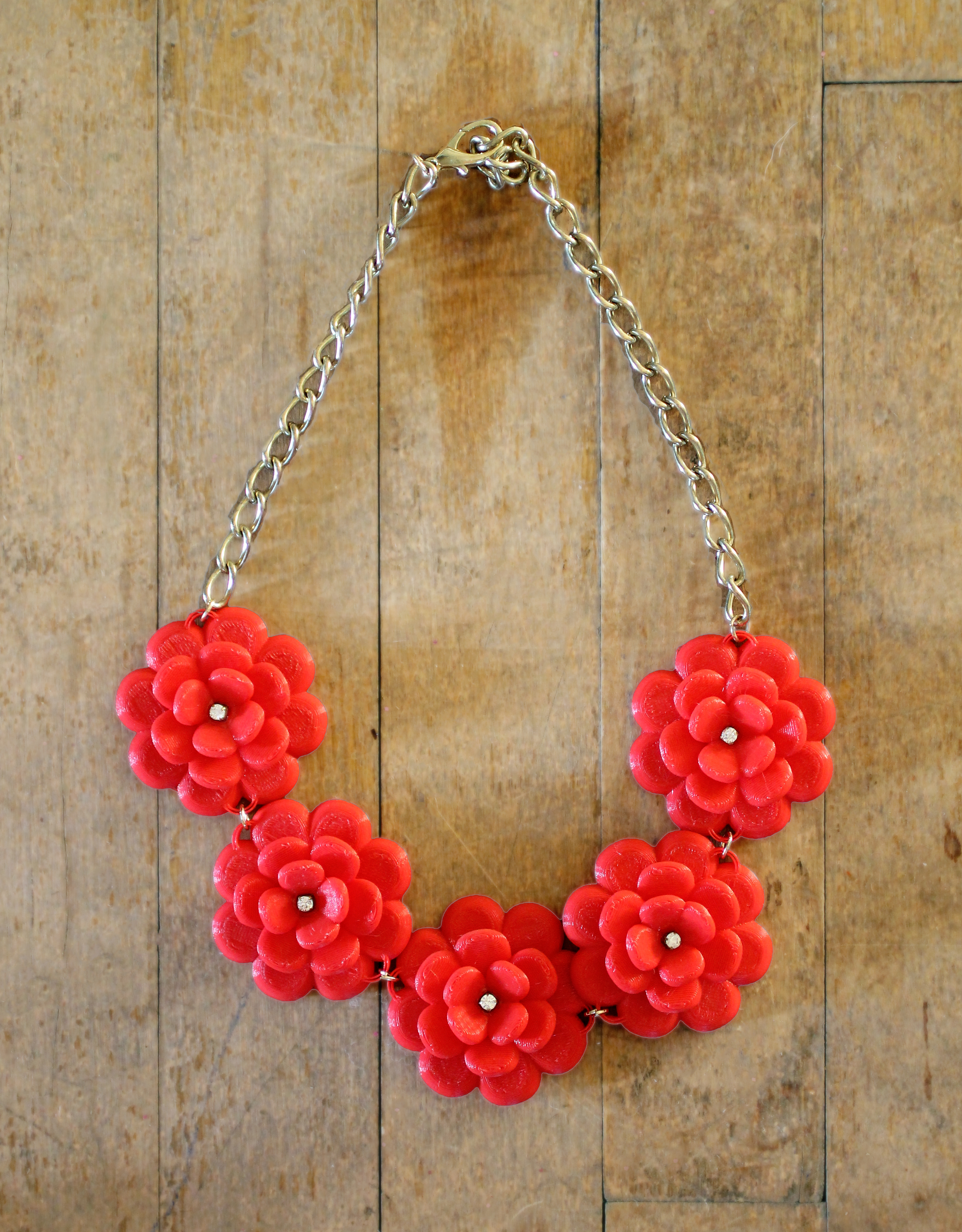 DIY J.Crew Rose Wreath Necklace - With a 3D Printer - jamiebhannigan.com