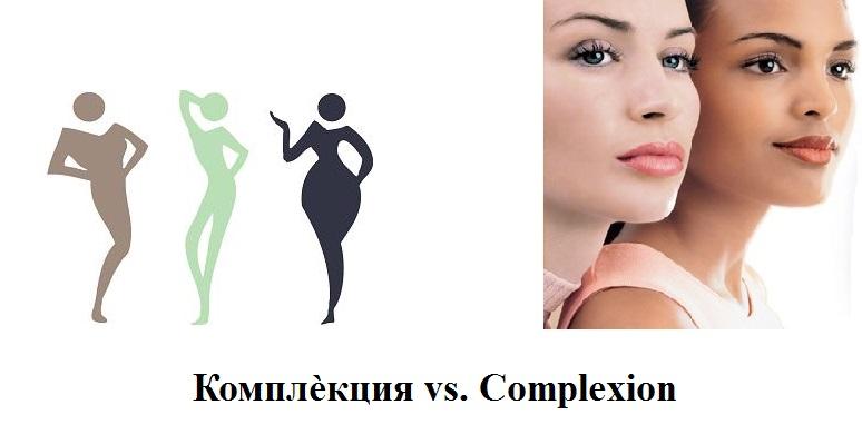 Комплѐкция vs. Complexion