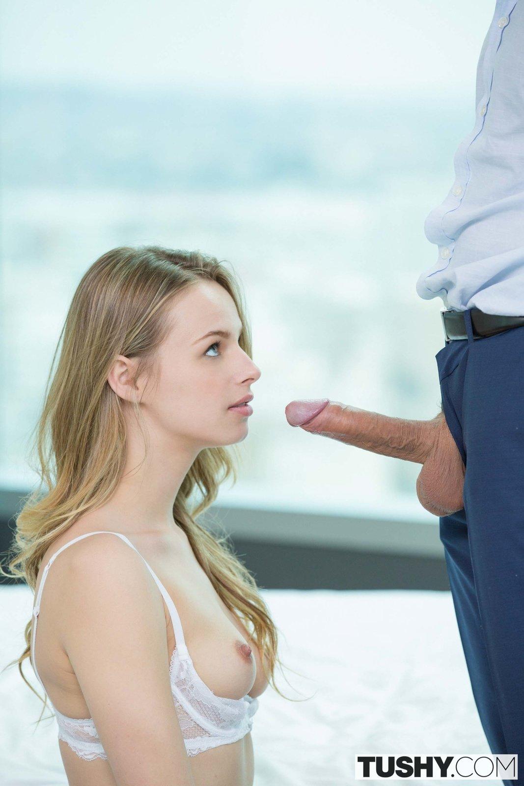 Blue eyed model Jillian Janson taking in the ass
