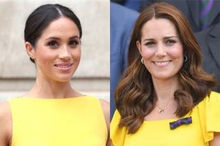 Меган Маркл против Кейт Миддлтон: кому желтый цвет идет больше?
