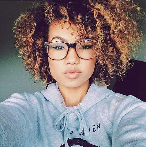 афро прическа для кудрявых волос фото