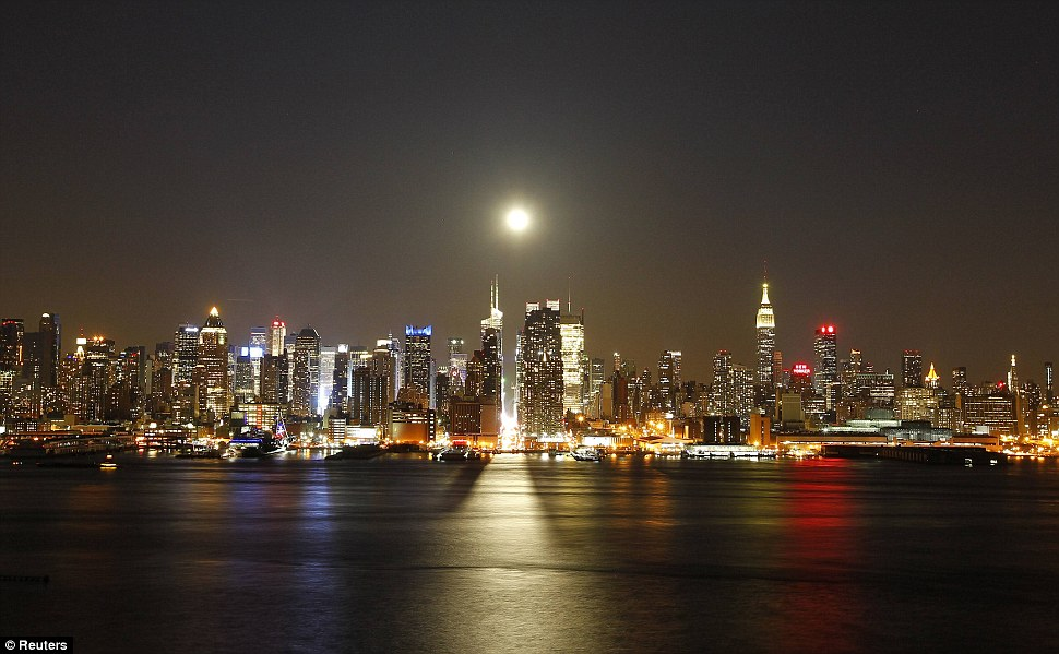 A fine and natural sight: New York City bathed in the moonlight