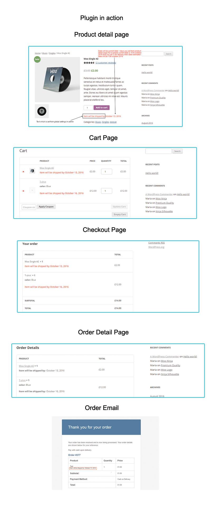 Data de entrega estimada de Woocommerce por produto - 1