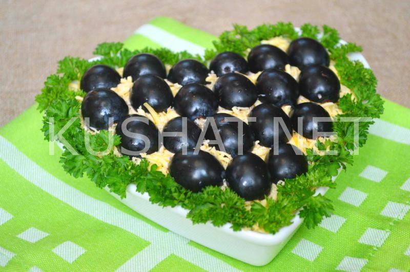 19_салат Тиффани с курицей и виноградом