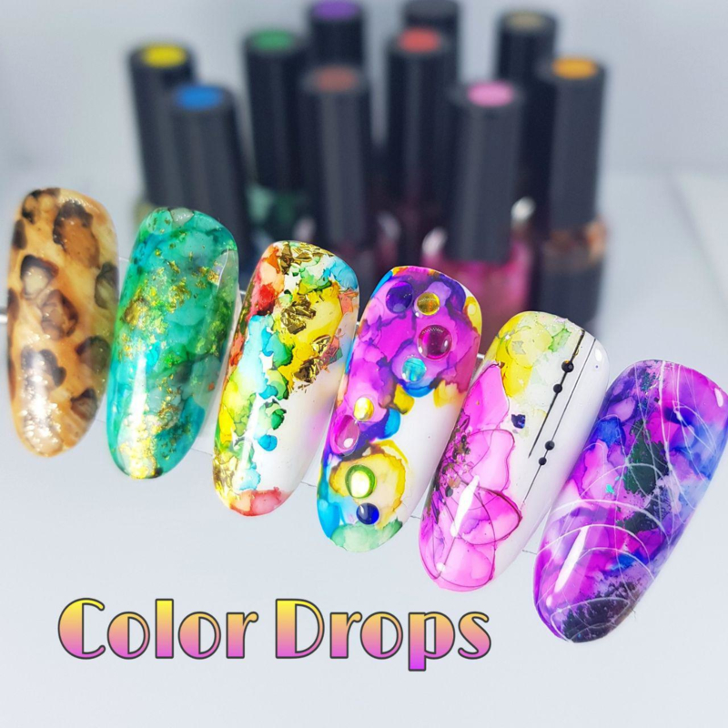 Color drops for nails