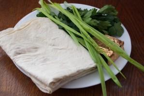 Лаваш с сыром плавленным на сковороде