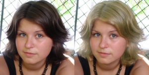 Как поменять цвет волос на фотошопе