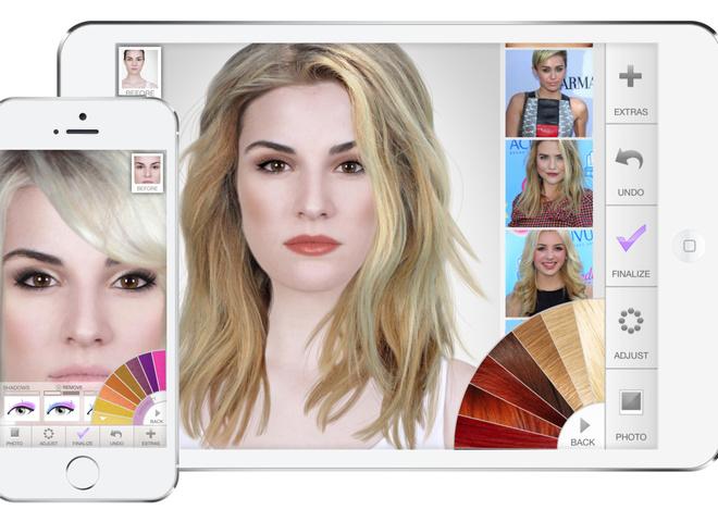 Поменять цвет волос в приложении онлайн