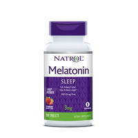 Natrol Melatonin Fast Dissolve Tablets, Strawberry flavor, 3mg, 90 Count