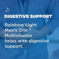 Rainbow Light - Men's One Multivitamin - Supports Energy, Stress Management, Heart, Prostate, Muscle, and Reproductive Health in Men - 150 Tablets
