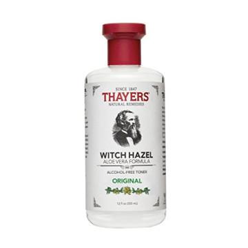 Thayers Witch Hazel Original Facial Toner - 12 Fluid Ounce Paraben Free, Alcohol Free, Organic Toner with Aloe Vera Formula.  Beauty and Skin Care Essentials