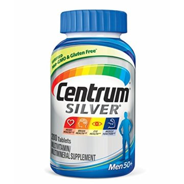 Centrum Silver Men (200 Count) Multivitamin / Multimineral Supplement Tablet, Vitamin D3, Age 50 and Older