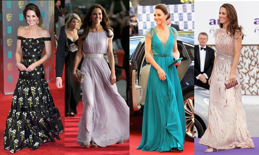 Kate middleton grey gown