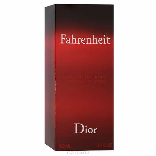 Christian Dior Туалетная вода «Fahrenheit», 100 мл