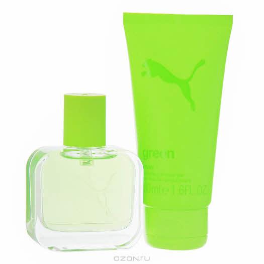 """купить в интернет магазине: Набор Puma """"Green Man"""": туалетная вода, гель для душа"""