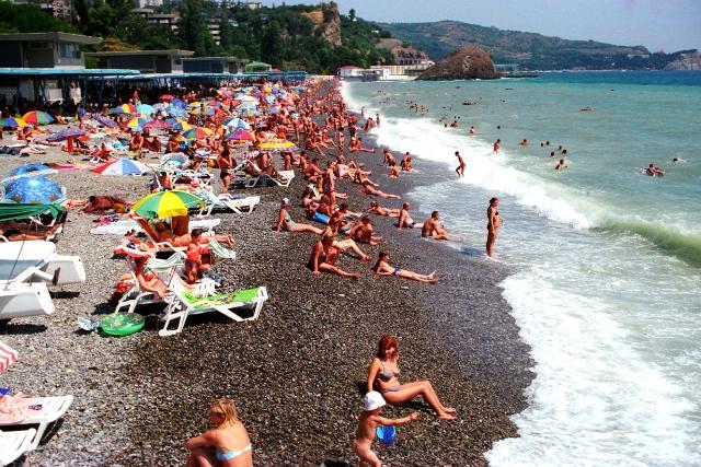 Крым пляж галечный