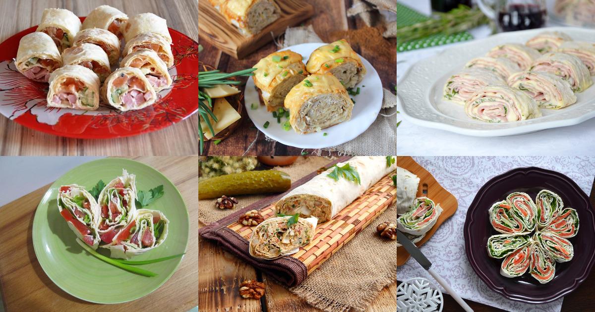 Закуска из лаваша с сыром и зеленью на сковороде с фото