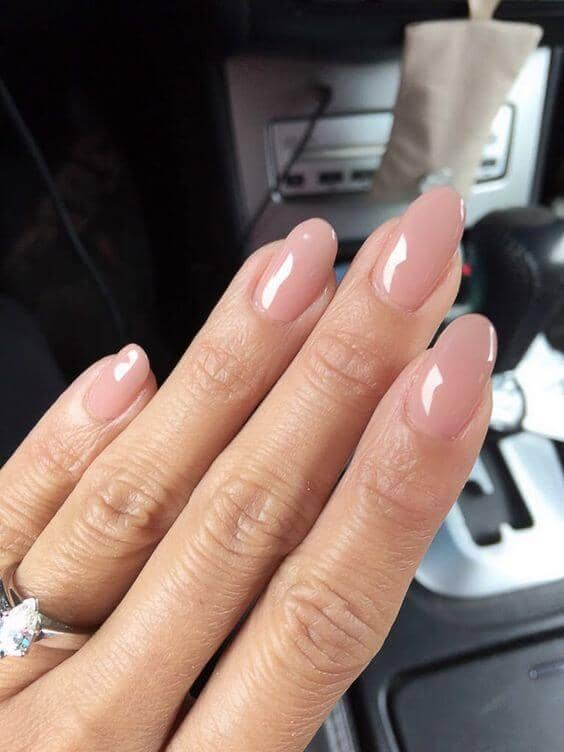 Jelly Sand Colored Almond Nails