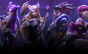 Обои Girls, League Of Legends, Cover