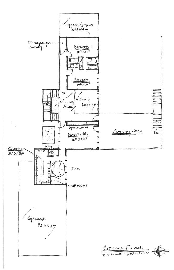 Second draft floor plan - second floor