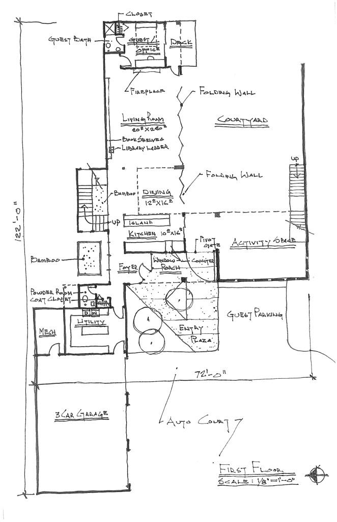 Second draft floor plan - first floor