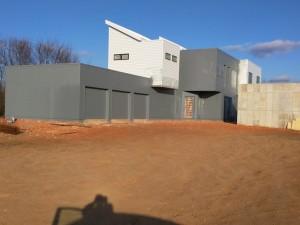 Gray modern house paint