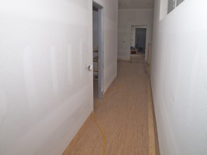 Down the hallway towards the master bedroom.   You can see the full length of the house here.