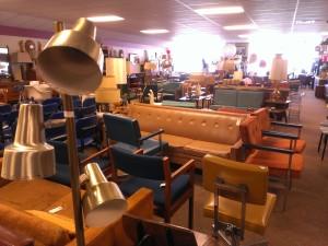 The furniture side of 410 Vintage Market