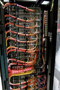 A tidy server rack