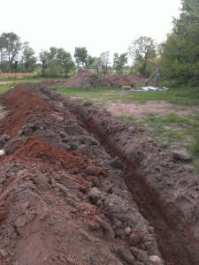 The main water line trench.