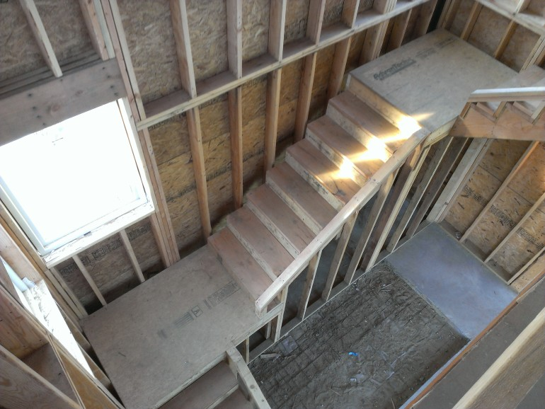 View of the stairs from above.