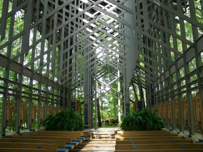 Thorncrown Chapel Eureka Springs AR interior