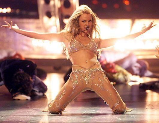 Britney spears striptease