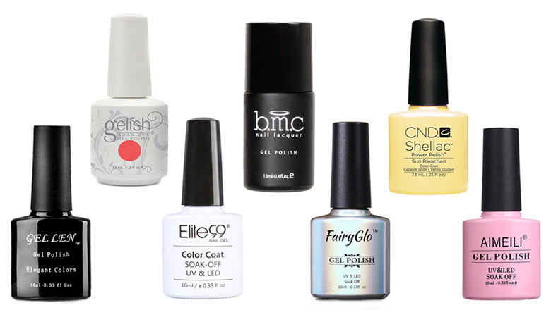 Polishing gel nails