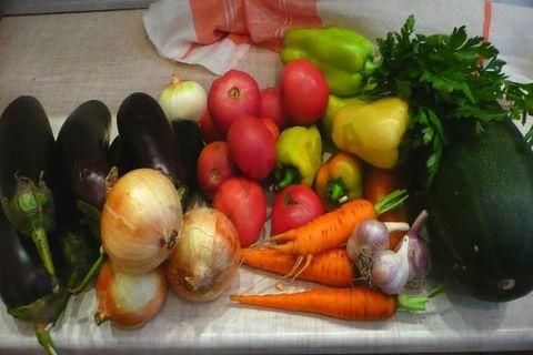 овощи для икры