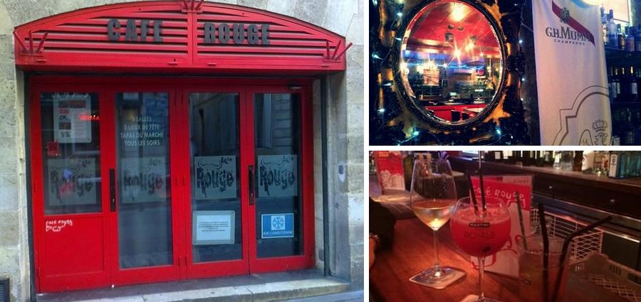 Café rouge bar dansant Bordeaux
