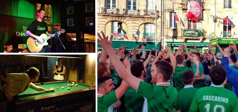 ambiance irlande pub bières bordeaux