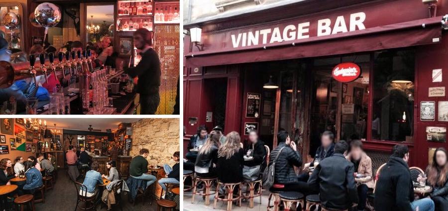 Vintage bar à bières Bordeaux