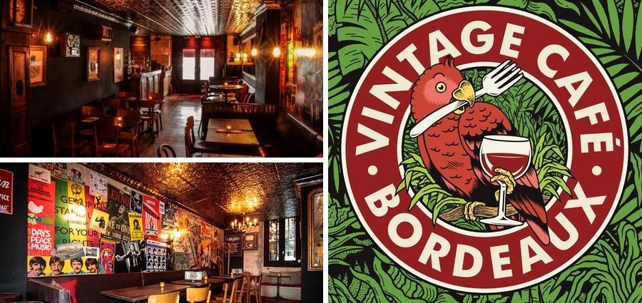 Vintage cafe bar à bières quai