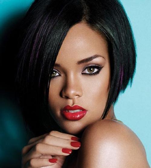 Rihanna latest short hairstyles