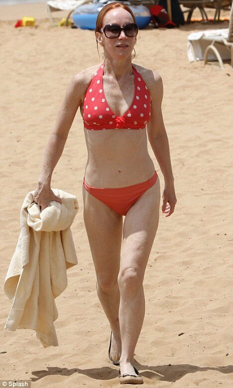 Kathy Griffin orange bikini