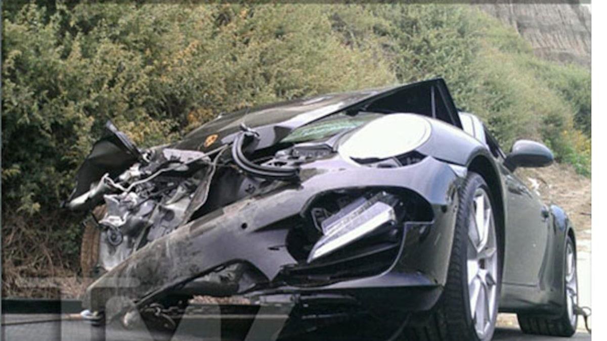 Lindsay lohan car accident photos