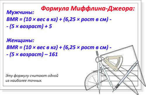 Формула Миффлина-Джеора