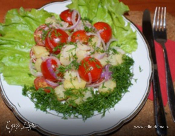 Салат из картошки помидор