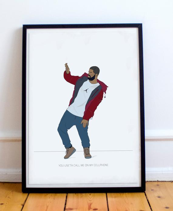 Hip hop posters drake