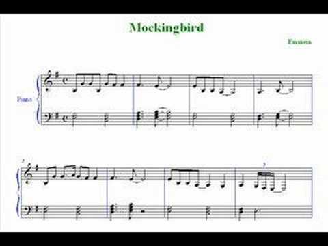 Eminem mockingbird sheet music