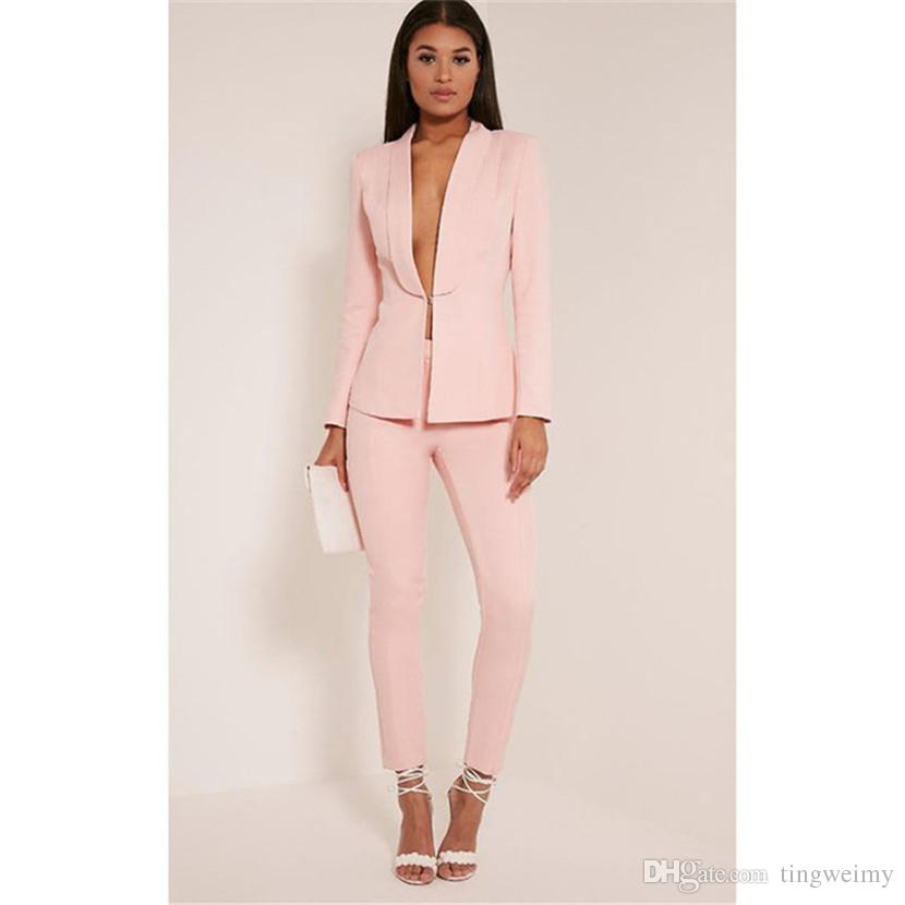 Pink suits for women