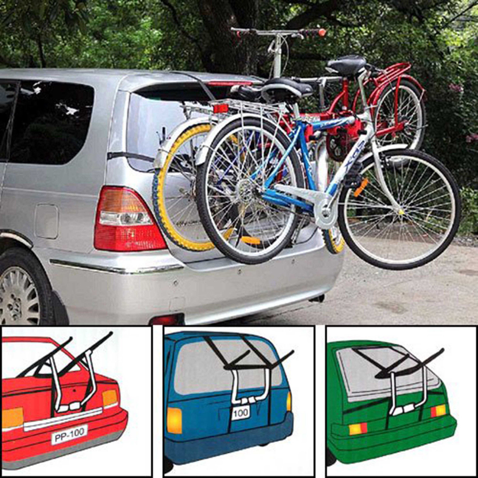 spare for carrier car me dp racks amazon thule bike com outdoors rack mount bicycle trunk tire sports